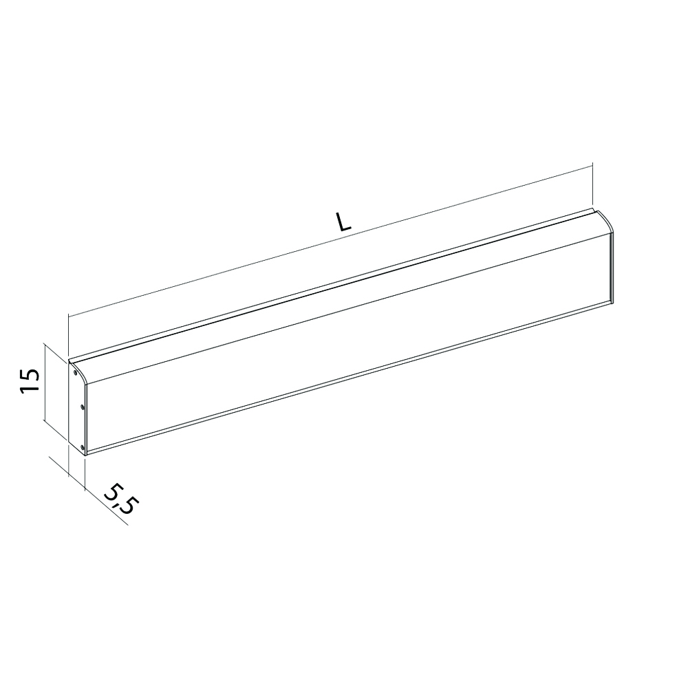 11-102-xx-wall-mounted-horizontal-track-with-cover-for-insert-and-side-caps-diagram