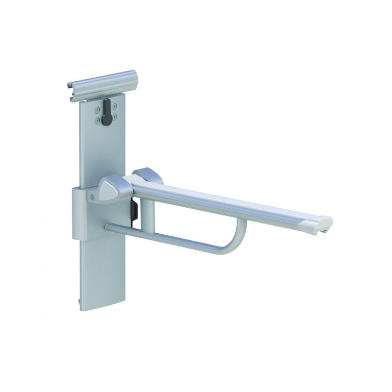 LIFT-UP ARM SUPPORT FOR HORIZONTAL TRACK, HEIGHT AND SIDEAWAYS ADJUSTABLE