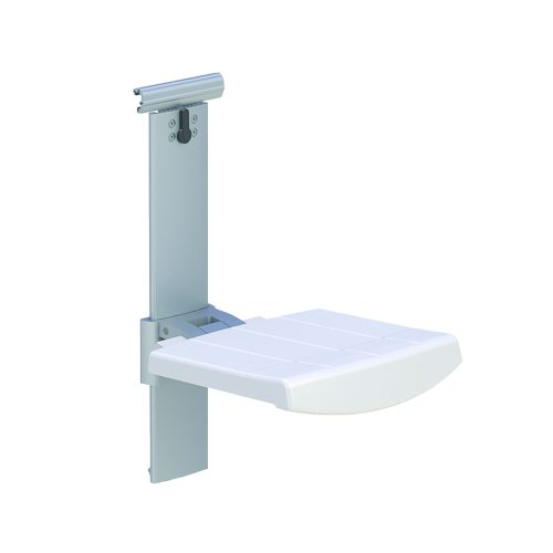 SHOWER SEAT FOR HORIZONTAL TRACK, HEIGHT AND SIDEWAYS ADJUSTABLE