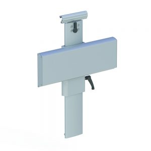WASHBASIN BRACKET FOR HORIZONTAL TRACK, HEIGHT AND SIDEWAYS ADJUSTABLE
