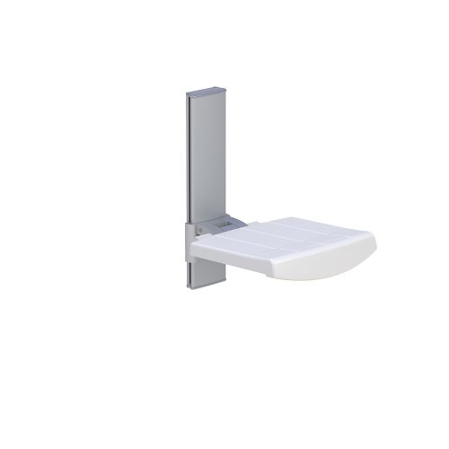 WALL MOUNTED SHOWER SEAT, HEIGHT ADJUSTABLE