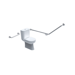40 degree toilet grab rail set