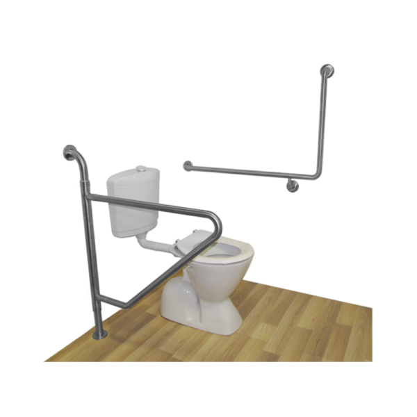 swing away toilet grab rail next to toilet