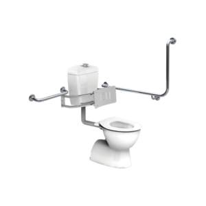 compliant toilet grab rail set