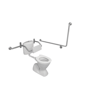90degree toilet grab rail and toilet backrest