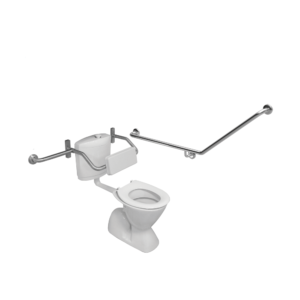 40 degree toilet grab rail with toilet backrest