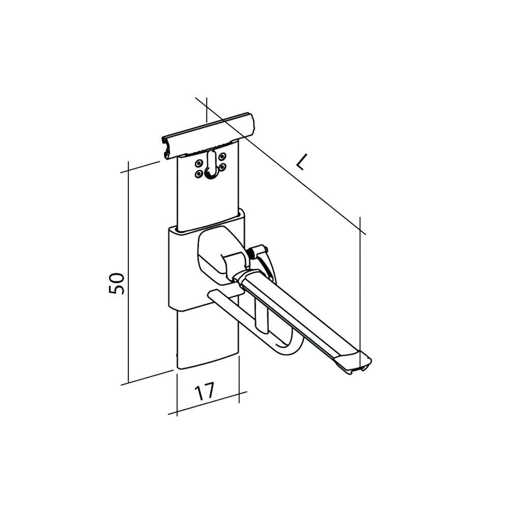 23-141-xx-easy-smart-lift-up-arm-support-for-horizontal-track-height-and-sideways-adjustable-diagram