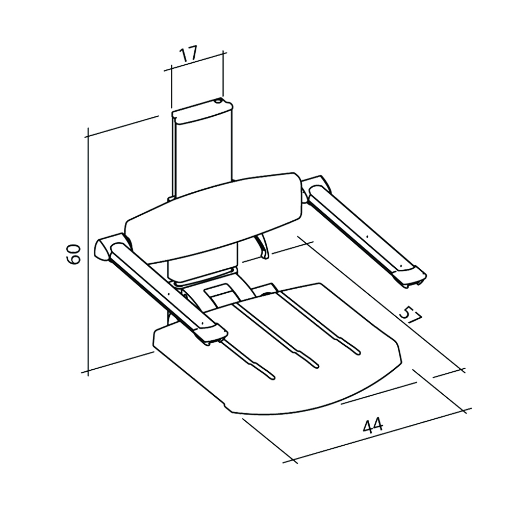31-132-xx-wall-mounted-shower-seat-with-backrest-armrest-height-adjustable-diagram