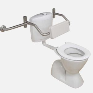 Adjustable toilet backrest