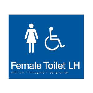 BS.FACTL - BRAILLE SIGNAGE - Female Accessible Toilet LH 1