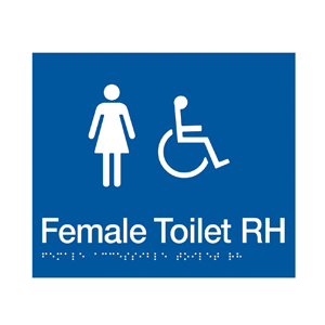 BS.FACTR - BRAILLE SIGNAGE - Female Accessible Toilet RH 1