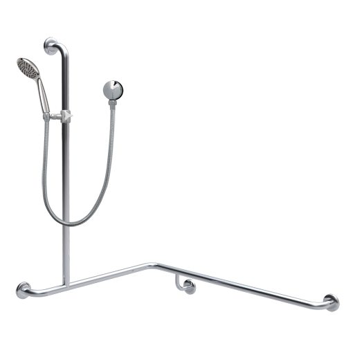 corner shower grab rail with hand shower set