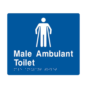 BS.MAT - BRAILLE SIGNAGE - Male Ambulant Toilet 1