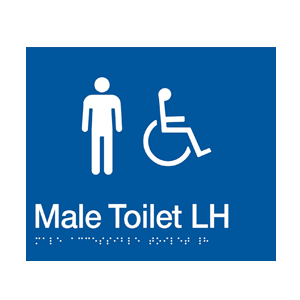 BS.MACTL - BRAILLE SIGNAGE - Male Accessible Toilet LH 1
