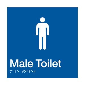 BS.MT - BRAILLE SIGNAGE - Male Toilet 1